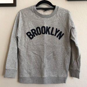 """JCrew """"Brooklyn"""" Pullover Sweatshirt"""
